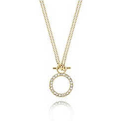 Pilgrim - Gold plated ring pendant necklace