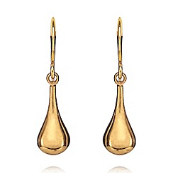 Pilgrim - Gold plated drop earrings