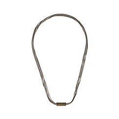 Pilgrim - Silver plated bar wire necklace