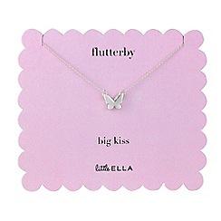 Little Ella - Silver plated flutterby pendant