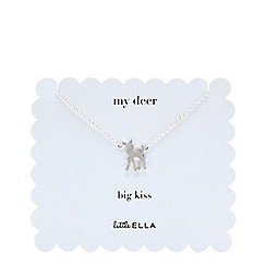 Little Ella - Silver plated little deer pendant