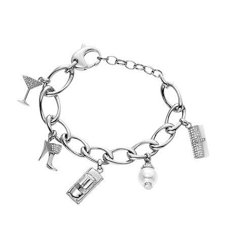 DKNY - Silver large link charm bracelet