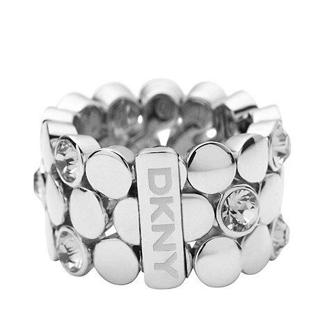 DKNY - Silver circle band ring