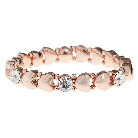 Pilgrim - Rose heart bead stretch bracelet