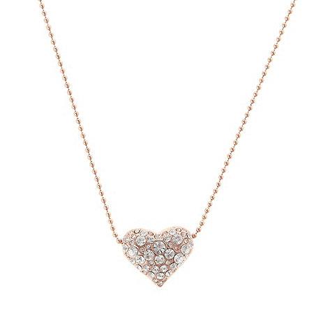 Pilgrim - Gold embellished heart pendant