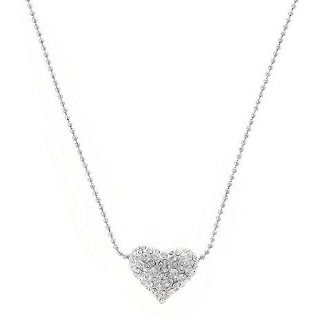 Pilgrim - Silver embellished heart pendant