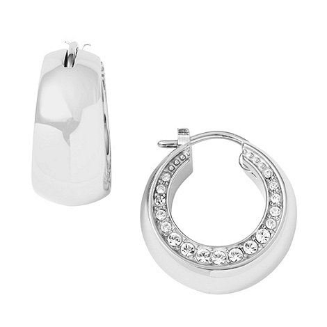 DKNY - Silver diamante edged ring earrings