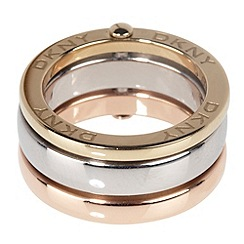 DKNY - Silver triple circle band ring