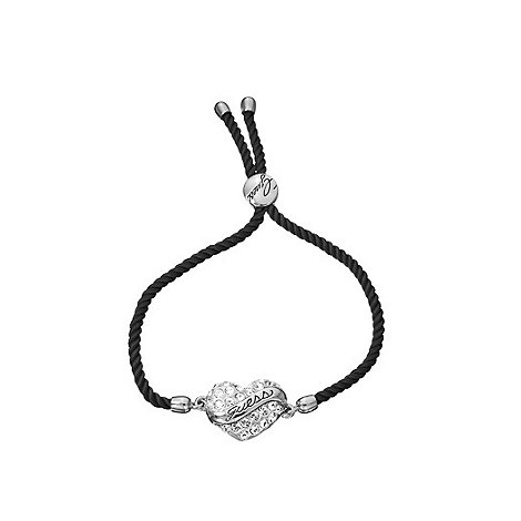 Guess - Black heart on cord bracelet