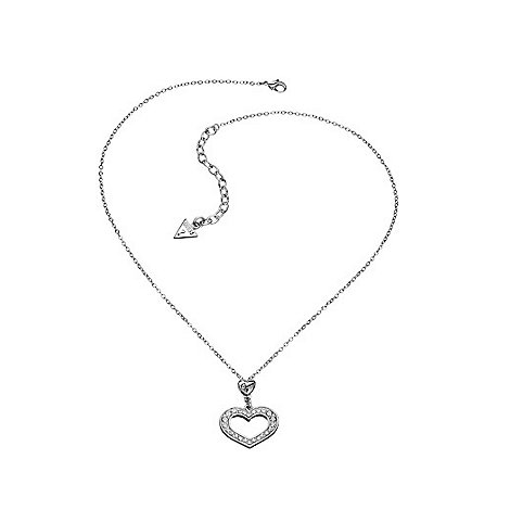 Guess - Silver open heart necklace