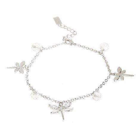 Finesse - Silver dragonfly charm bracelet