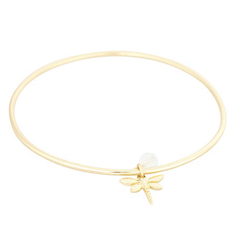 Finesse - Gold dragonfly charm bangle