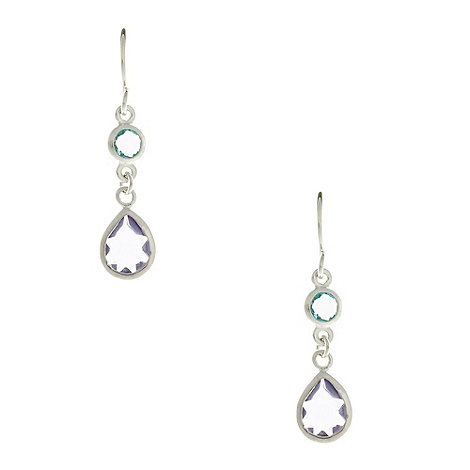 Finesse - Blue rhodium crystal teardrop earrings