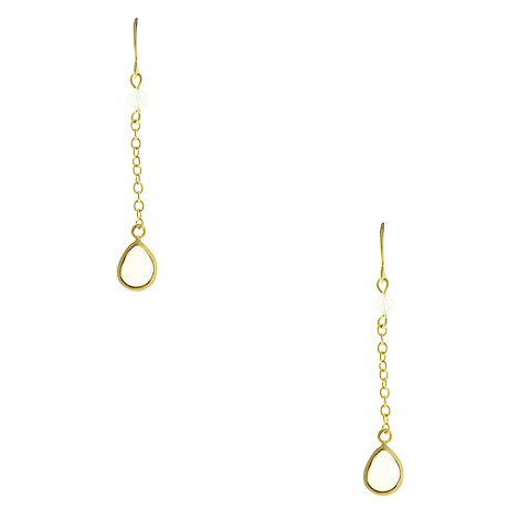Finesse - Gold crystal chain drop earrings