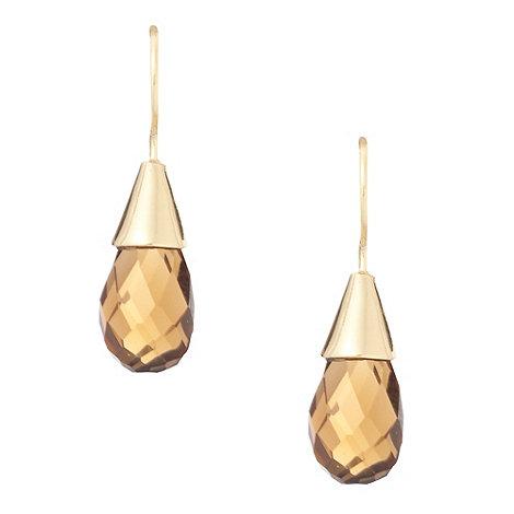 Finesse - Gold faceted teardrop earrings