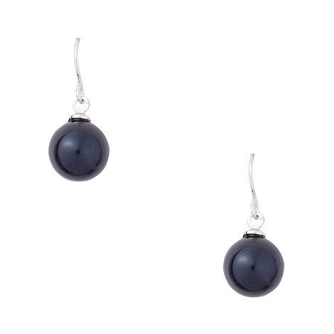 Finesse - Dark blue drop hook earrings