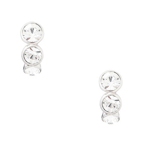 Finesse - Silver stone set clip on earrings