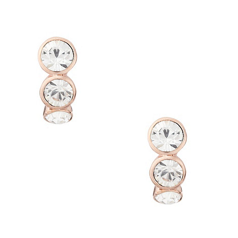 Finesse - Rose triple crystal clip earrings