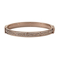 Fossil - Rose diamante bangle