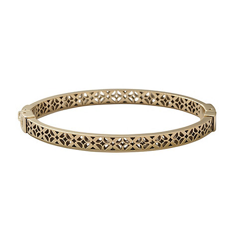 Fossil - Gold cut out floral bangle