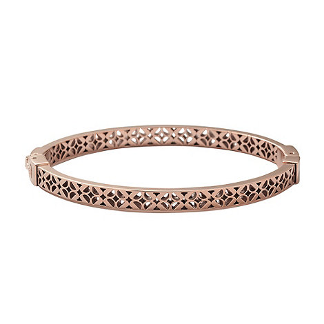 Fossil - Rose cut out floral bangle