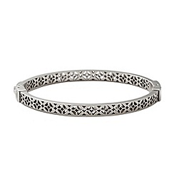 Fossil - Silver cut out floral bangle
