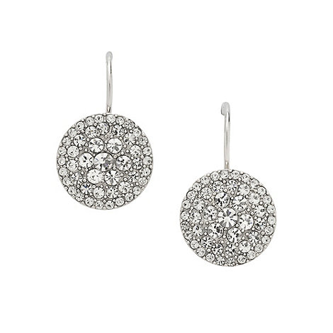 Fossil - Silver pave disc earrings