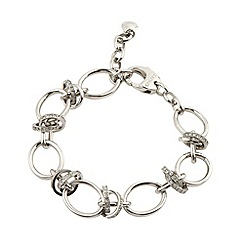DKNY - Silver diamante ring bracelet