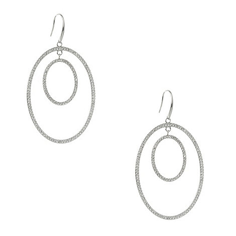 DKNY - Silver double overal earings