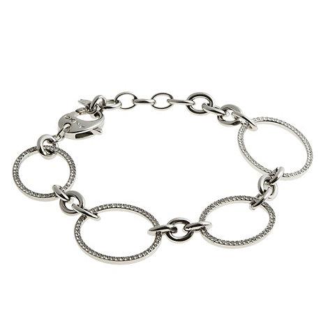 DKNY - Silver stone oval link bracelet