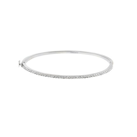 DKNY - Silver diamante bangle bracelet