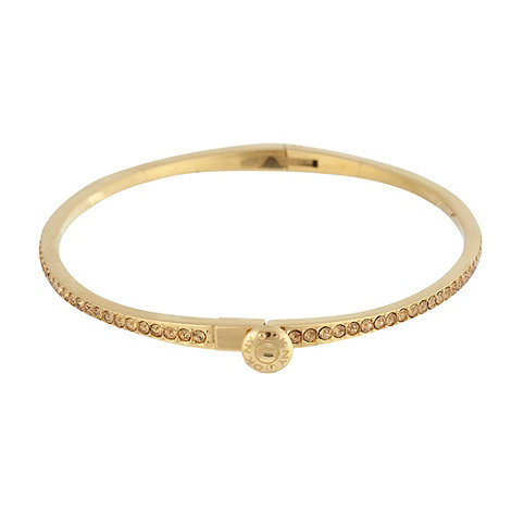 DKNY - Gold diamante bangle bracelet
