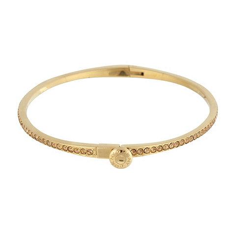 DKNY - Gold diamante bangle bracelet