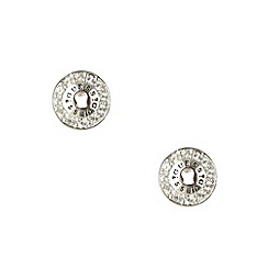 Guess - Silver diamante circle stud earrings