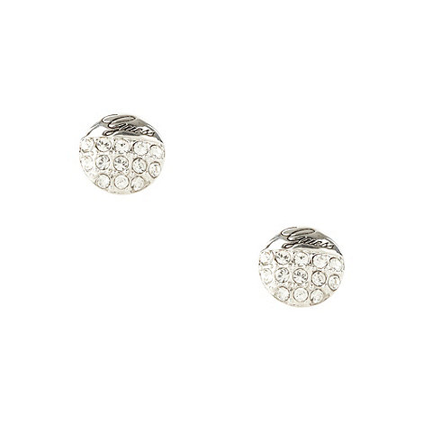 Guess - Silver diamante ball stud earrings