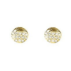 Guess - Gold diamante circle stud earrings