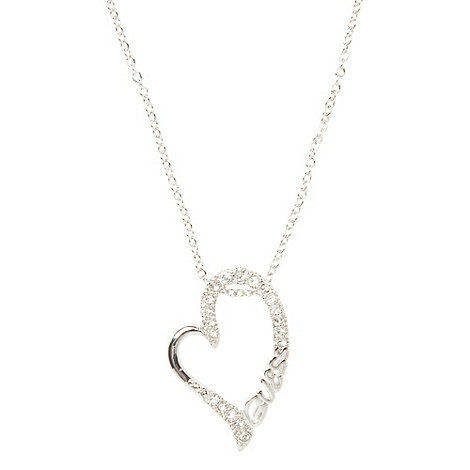 Guess - Silver cut out heart necklace
