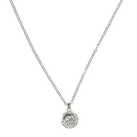 Guess - Silver diamante ball necklace