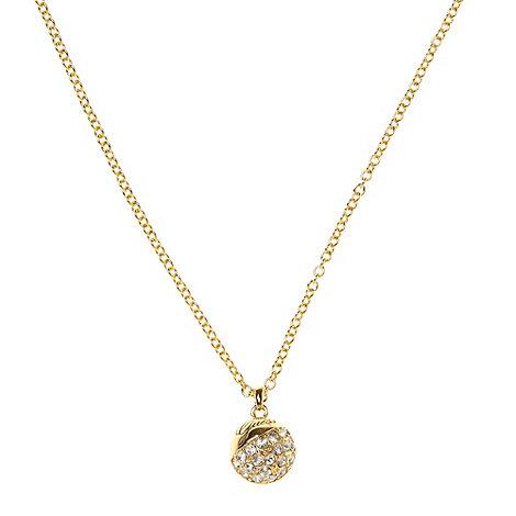 Guess - Gold diamante ball necklace