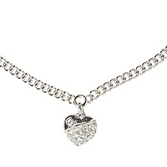 Guess - Silver diamante heart necklace