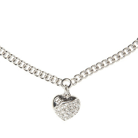 Guess - Rhodium plated chain necklace ubn71269