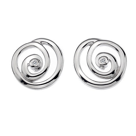 Hot Diamonds - Silver spiral stud earrings