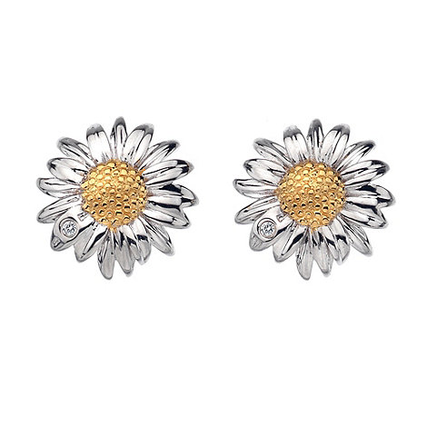 Hot Diamonds - Silver daisy flower earrings