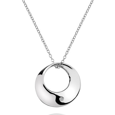 Hot Diamonds - Small circle pendant silver