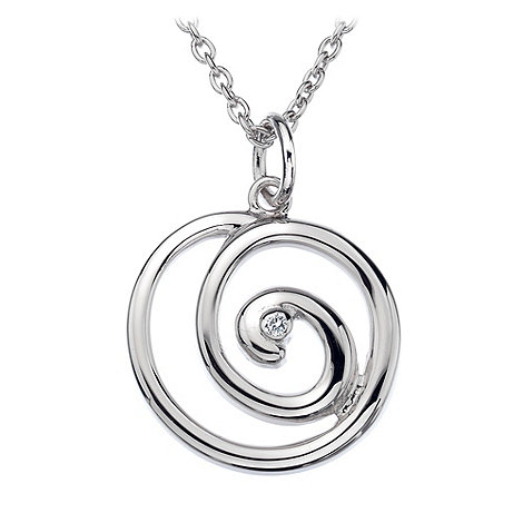 Hot Diamonds - Silver spiral pendant