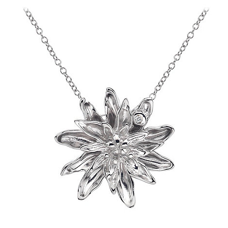 Hot Diamonds - Silver dahlia flower pendant