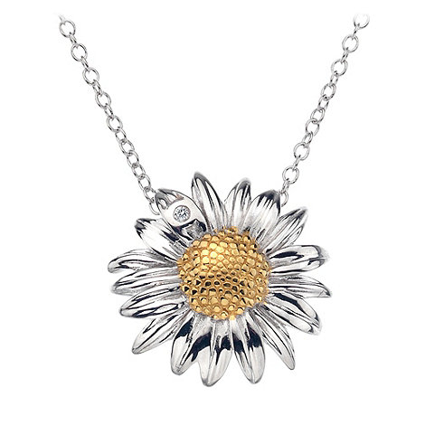 Hot Diamonds - Silver daisy flower pendant