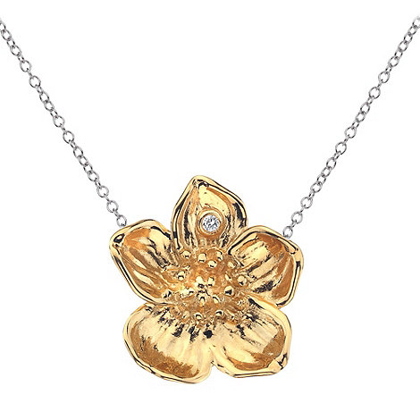Hot Diamonds - Gold vermeil buttercup flower pendant