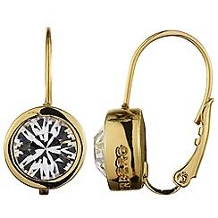 Dyrberg Kern - Gold 'louise' swarovski crystal drop earrings