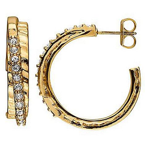 Dyrberg Kern - Gold +lyra+ swarovski crystal wrap hoop earrings
